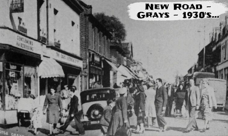 history grays Essex new road 1930s old photo