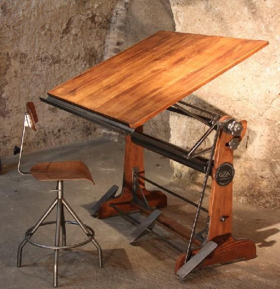 As 25 melhores ideias de vintage drafting table no - Mobiliario vintage industrial ...