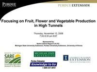 Focusing on Fruit, Flower and Vegetable Production in High Tunnels | SARE