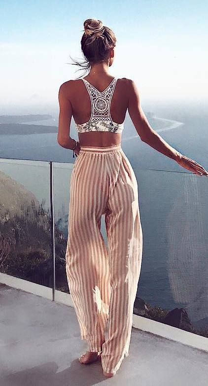 summer+outfit+crop+top+++pants