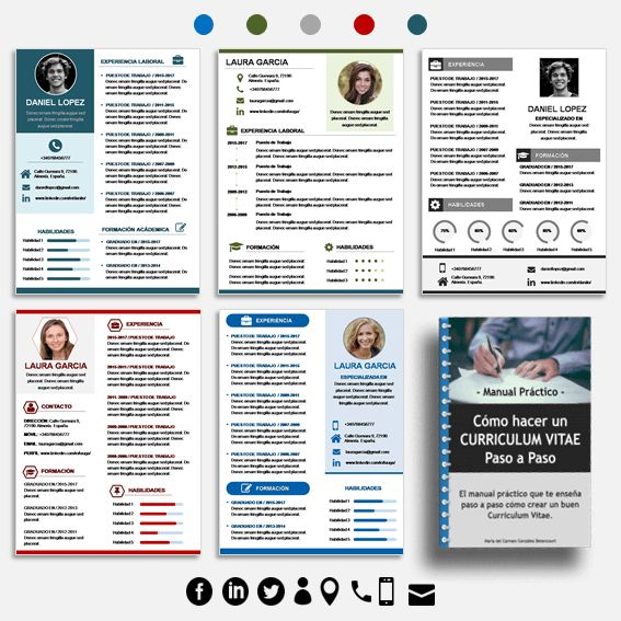 pack de 5 plantillas de curriculum vitae en word y power point  incluye otros recursos sobre
