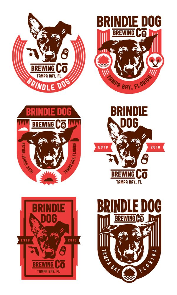 Brindle Dog Brewing Co. by Kendrick Kidd, via Behance