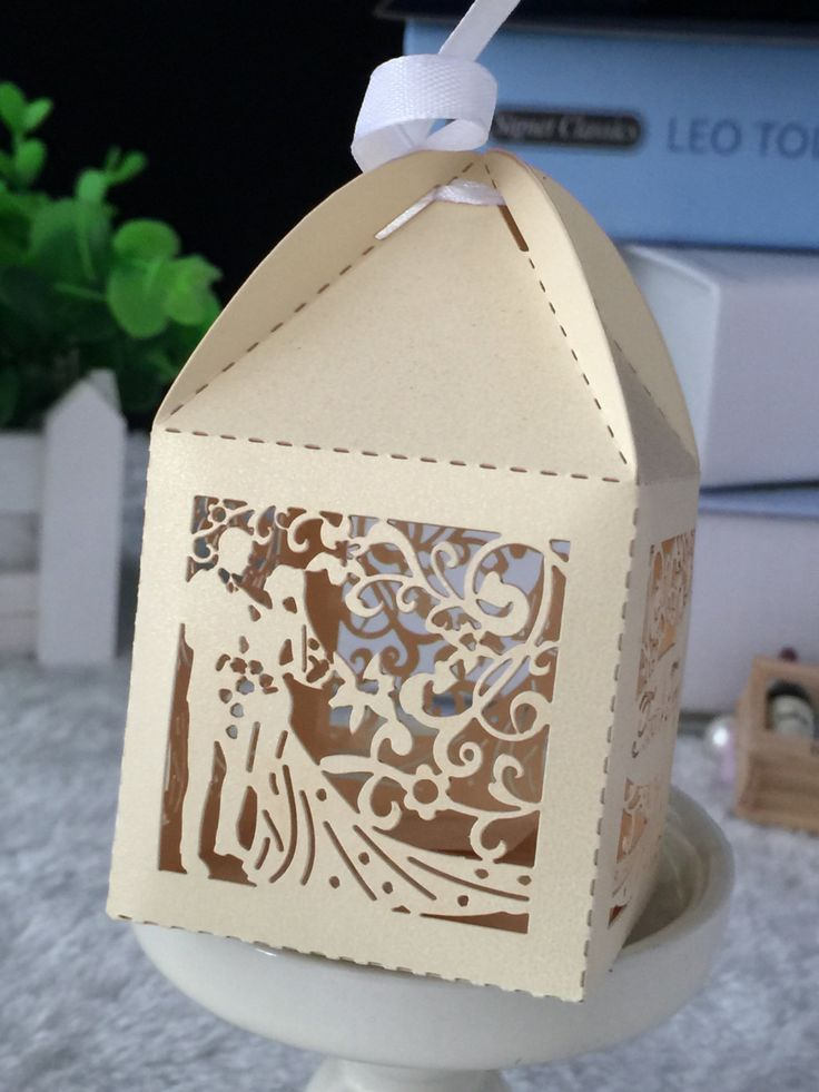 100pcs free shipping Wedding Packaging Box Wedding Decoracion and Favor Box Wedding Chocolate Gift Box with ribbon by Kdecoration on Etsy