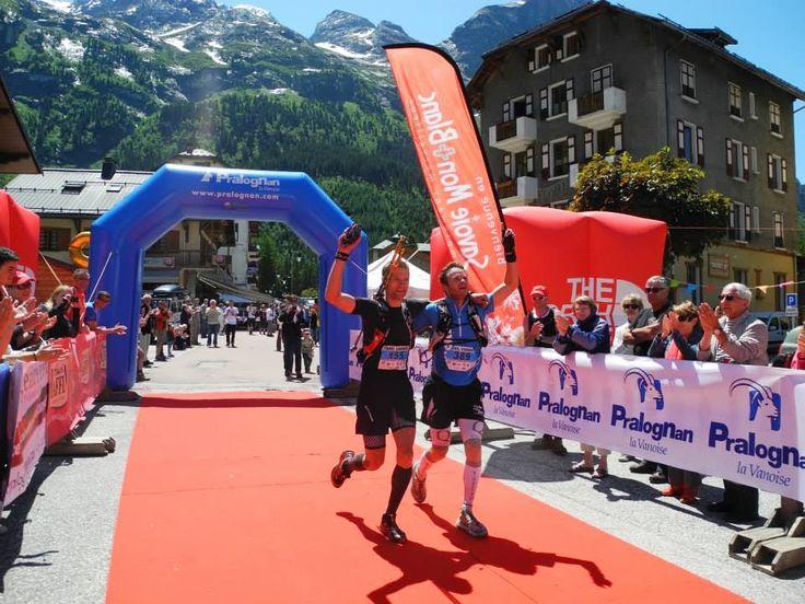 Podium 2013 du Trail Tour des Glaciers de la Vanoise Pralognan French Alps