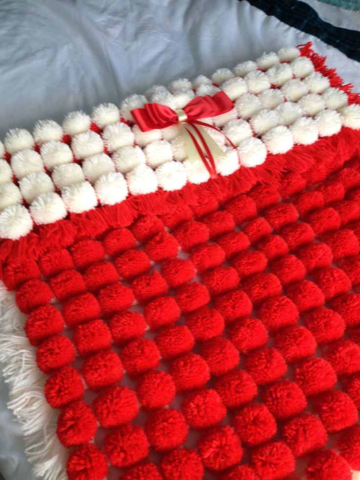 Just Love This Pompom Blanket Still For Sale Crafts