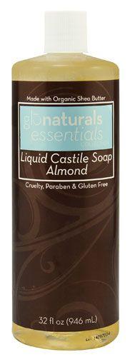 Glonaturals Essentials Collection Almond Liquid Castile Soap