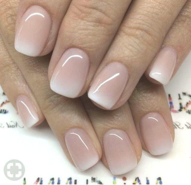 14+ Ombre Nails Shellac Wit roze ombre acryl vingernagels – Manicure – Fr …