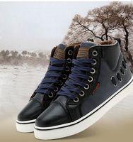 Transport gratuit 2013 oameni noi casual moda de iarna cizme în aer liber pantofi de bumbac cald, plus catifea pantofi de înaltă top 39-44 XMB029