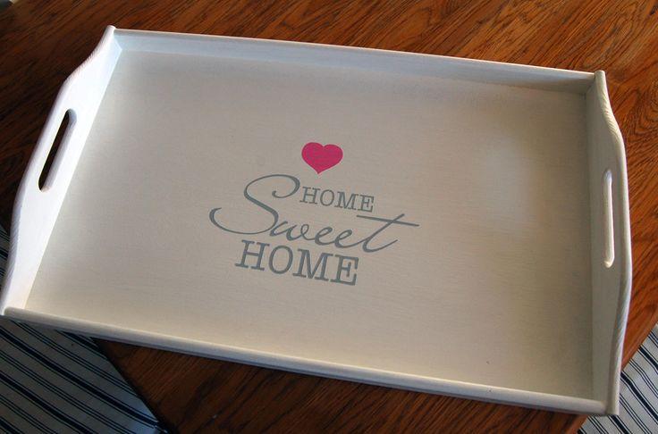 taca drewniana home sweet home