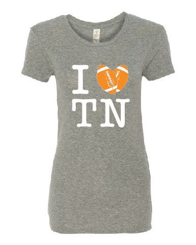I 'Heart' TN Football | In mens and ladies styles. Heather black or heather gray. From CircaWear.com