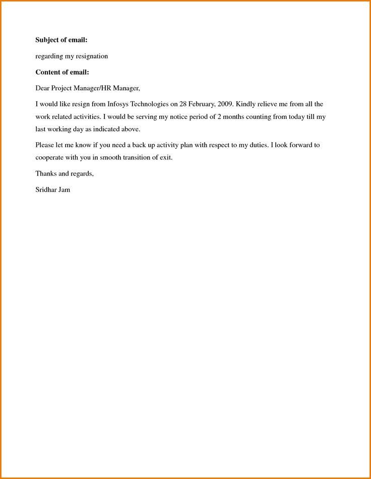 The 25 best Resignation sample ideas – Notice Period Resignation Letter
