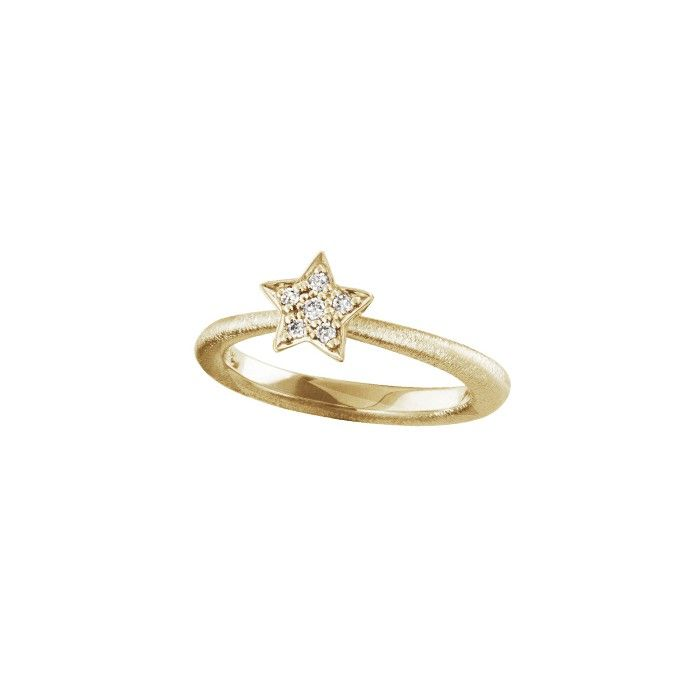 Star ring in 18K yellow gold and diamonds TW.VS - Rings | OLE LYNGGAARD COPENHAGEN