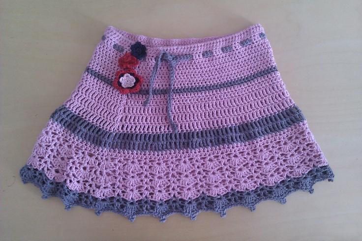 The first crochet skirt I've made. Own design.