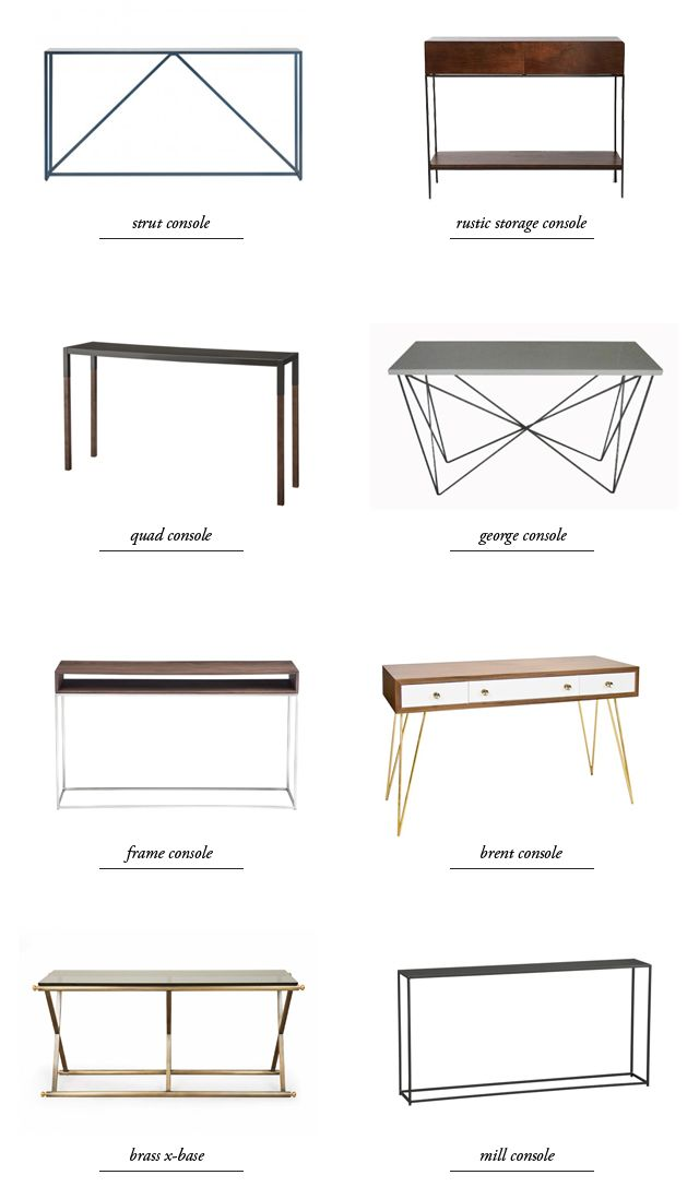 modern console table round-up // smitten studio