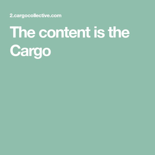 The content is the Cargo