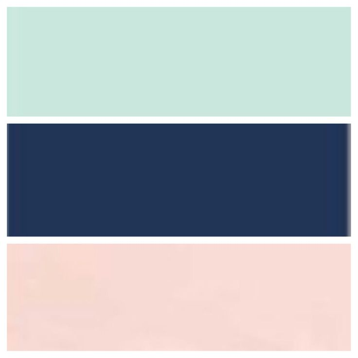 Nursery palate peach mint navy