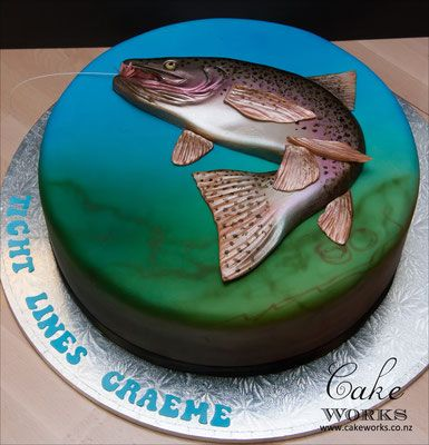Trout Fishing Cake