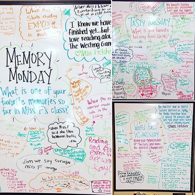 Our last three days of whiteboard questions! Check out my Instagram story to see what tomorrow's question will be  #memorymonday #tastytuesday #weirdfactwednesday #miss5thswhiteboard #5thgradeinfloridaswhiteboard #iteach5th #iteach456 #iteachfifth #floridateachers #iteach345
