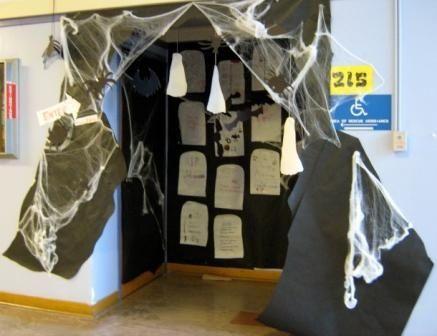 spooky classroom door decoration