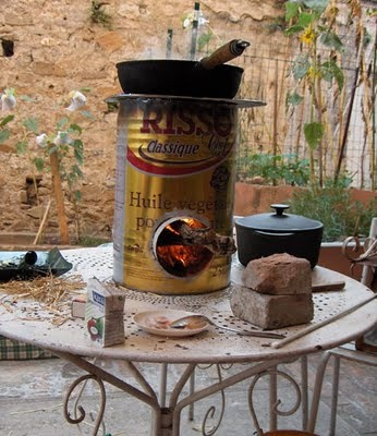"""How to build a """"rocket stove"""" in an afternoon."""