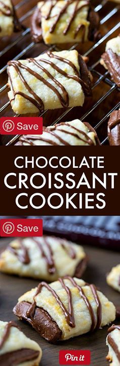 #MUST_SAVE Chocolate Croissant Cookies Serves 20 - Ingredients Vegetarian Refrigerated 1 Egg large Baking & Spices 1 cup All-purpose flour  tsp Almond extract 2 tbsp Granulated sugar 6 Hersheys (1.55-ounce) hersheys milk chocolate bars regular size 1/8 tsp Salt 3 tbsp Sanding sugar white  tsp Vanilla extract Dairy 8 tbsp Butter unsalted 4 oz Cream cheese Ingredients Vegetarian Refrigerated 1 Egg large Baking & Spices 1 cup All-purpose flour  tsp Almond extract 2 tbsp Granulated sugar 6…