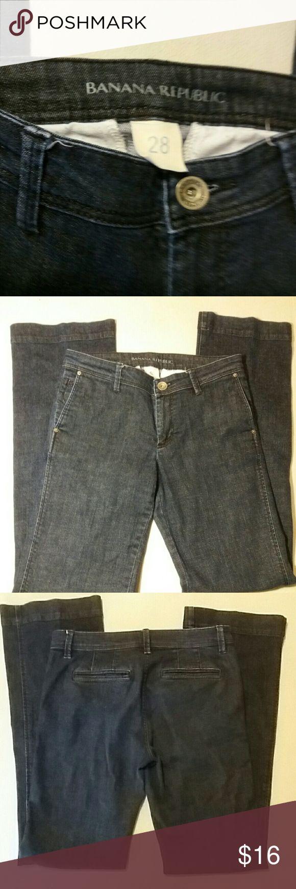 Banana Republic Dark Blue Demin Trousers Inseam: 32 inches, waist: 30 inches. Banana Republic Jeans Boot Cut
