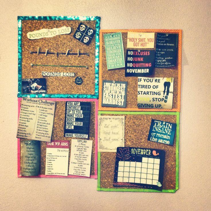 25 best ideas about motivation boards on pinterest for Cork board inspiration