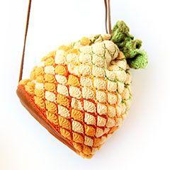 Bolsa de piña patrón de crochet amigurumi por Ahooka