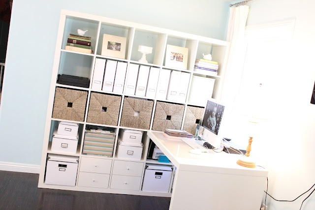 expedit shelves for a home office