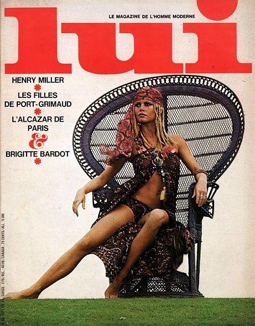 LUI Septembre 1969 Brigitte Bardot année érotique