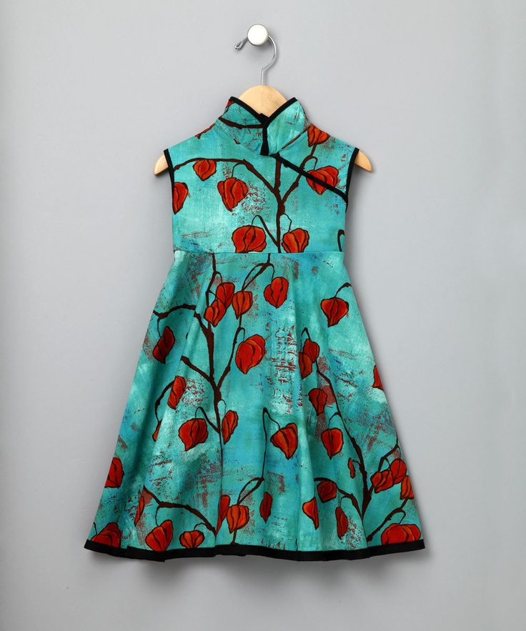 Green Leaves mandarin Dress