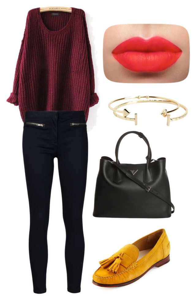 """Untitled #45"" by bestari09 on Polyvore featuring Veronica Beard, Cole Haan, Prada and Aéropostale"