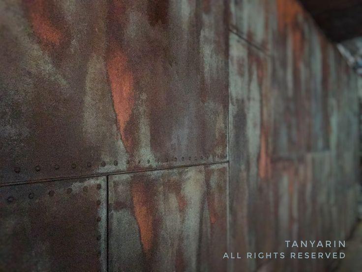 TANYARIN created Rust effect by Armourcoat on wall for Lamborghini area in house. #hotel #rust #art #creative #surface #finishing #Lamborghini #wall #supercar #car #garage #decor #decoration #design #tanyarin #modern #tanyarindecor #tanyarindecoration #armourcoat