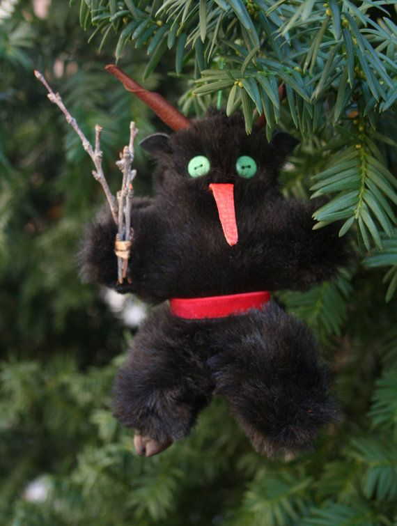 With new softer furs, velvet belts, and a single left hoof, our small Krampus dolls are so adorable! Measuring 6 tall, from horn tip to hoof tip,