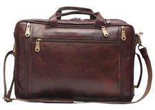 Comfort 15 inch Pure Leather Brown Laptop Bag For men and women EL35