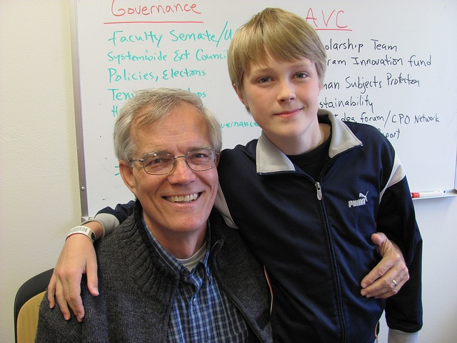 Patrick Hill, 11, learned about the work of his dad, Dan Hill of UW-Extension, during the 2012 Take Your Child to Work Day.