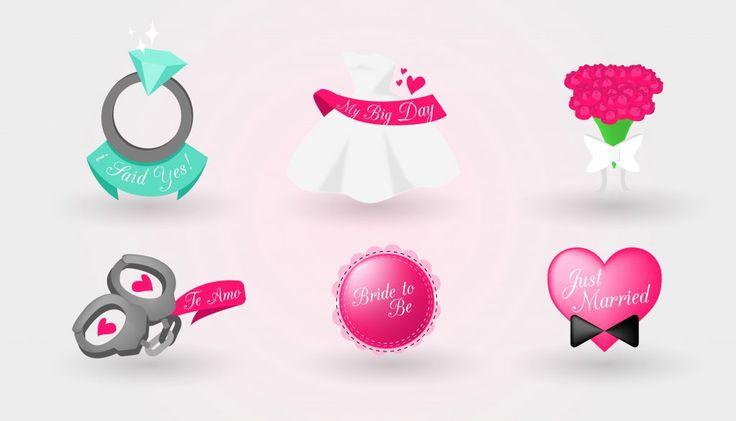 Wedding Icons Bridal Shower Heart Love – Freemocks