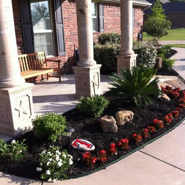 19 best images about front landscaping ideas on pinterest for Front window landscaping ideas