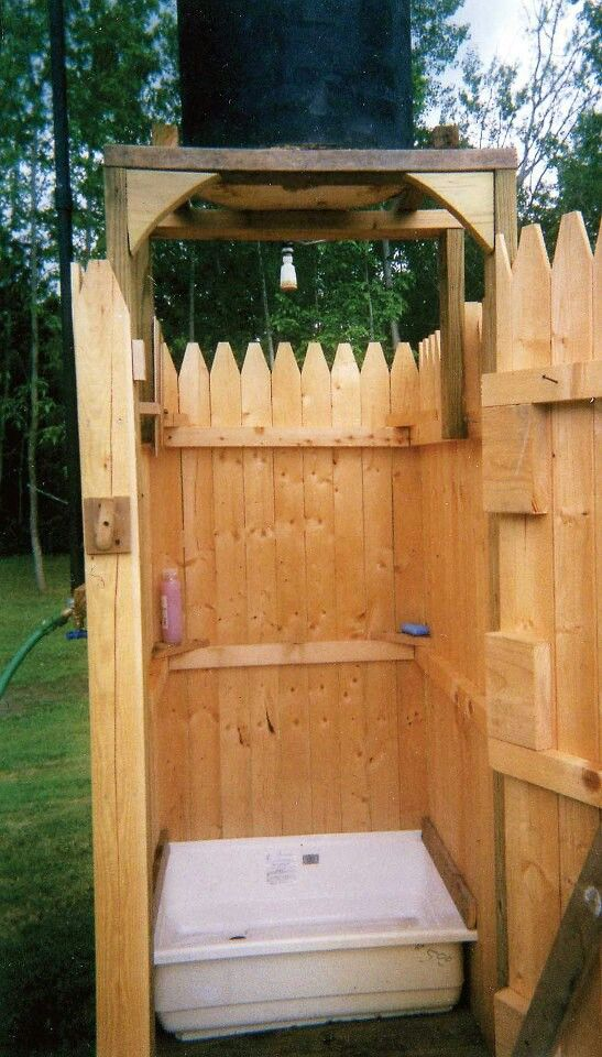 Camp Shower! But instead use for a dog/ pet outdoor shower