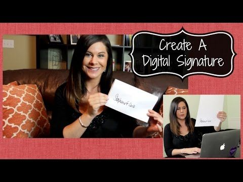 How To: Create a Digital Signature Using FaceTime. Tired of printing, signing, scanning, and emailing back a document? Create your digital signature on your Mac for FREE and never worry about it again! Your signature even works in Apple Mail! #lifehack #techtip