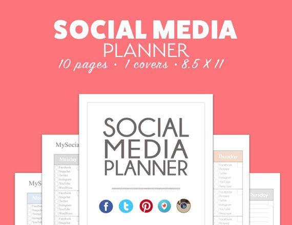 social media planner calendar calendar tracker pdf by pixel26