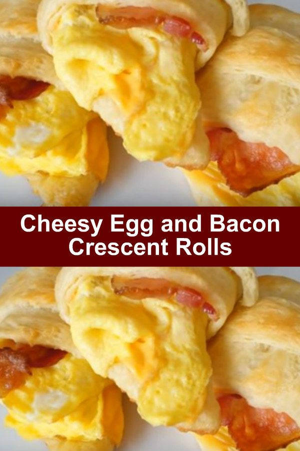 Cheesy Egg and Bacon Crescent Rolls