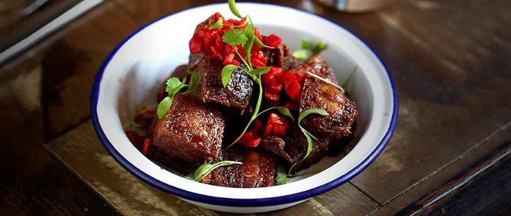 What's not to love about fried pork belly? This recipe is from Señor Ceviche and serves it with an Asian dipping sauce. You can cook the pork the day before and chill overnight if you like.