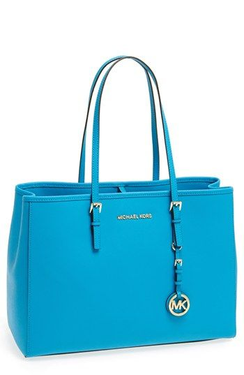 New Michael Kors travel tote. Great array of colors.Summer Blue, Michael Michael, Michael Kors Jet, Travel Totes, Kors Bags, Handbags Michael Kors, 61 99 Handbags Michael, Blue Hands Me The Bags, Kors Jet Sets