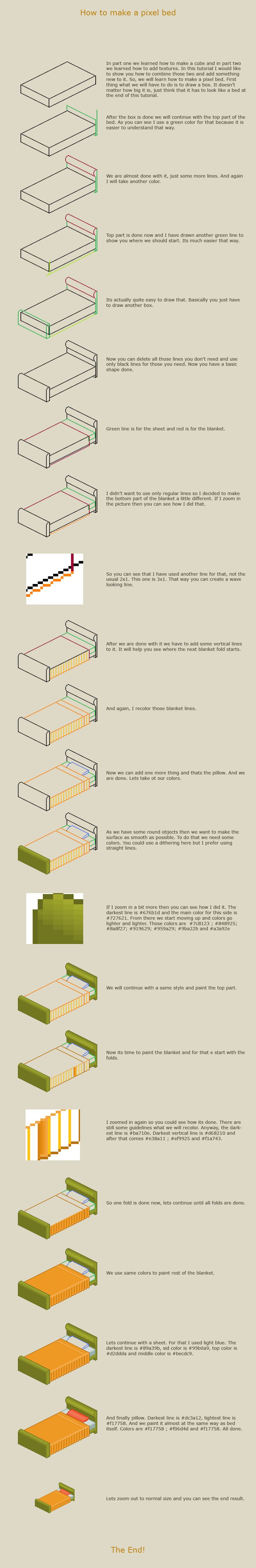 How to make a pixel bed by vanmall.deviantart.com on @deviantART