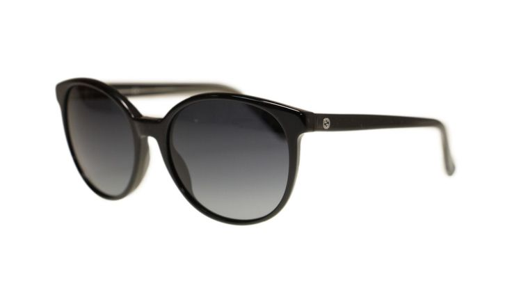 140.65$  Buy now - http://vikkb.justgood.pw/vig/item.php?t=0ipgwnn8490 - Gucci GG3722 YC6 Black/Grey Gradient Lens Oval Women's Sunglasses 55mm Authentic