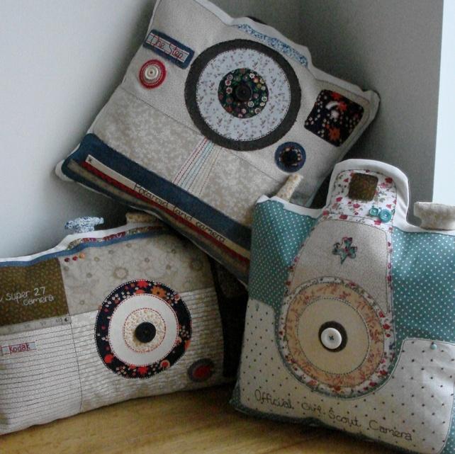 Brownie Super 27 camera cushion - Folksy