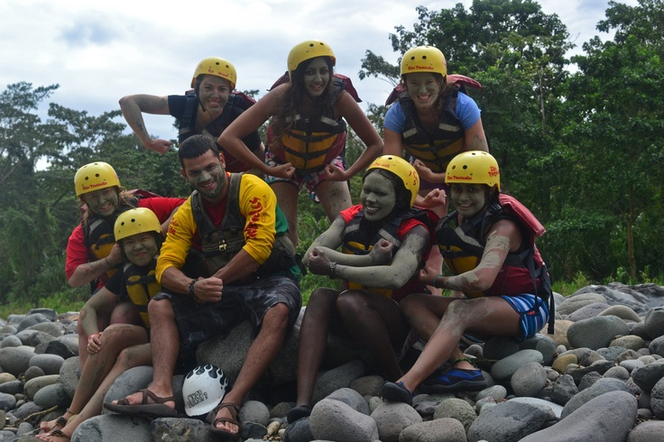 Pacuare Facial & Skin Mud Treatment - www.riostropicales.com #whitewaterrafting #riostropicales #pacuareriver #costarica