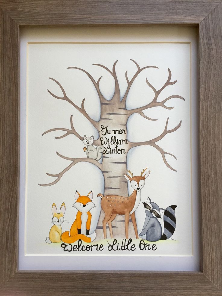 Great Woodland Creatures Fingerprint Guestbook. Woodland Animals Baby Shower  Guestbook. Animals Fingerprint Tree | Baby Shower Guestbook, Fingerprint  Tree And ...