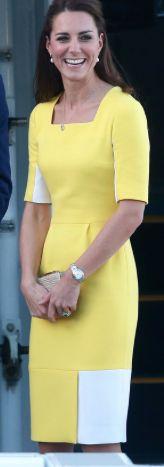 Roksanda Ilincic Yellow Cutout Dress